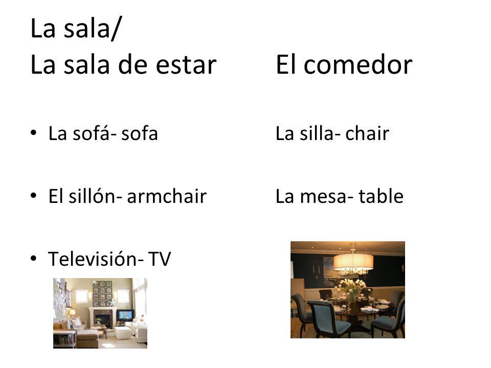 La sala/ La sala de estar El comedor