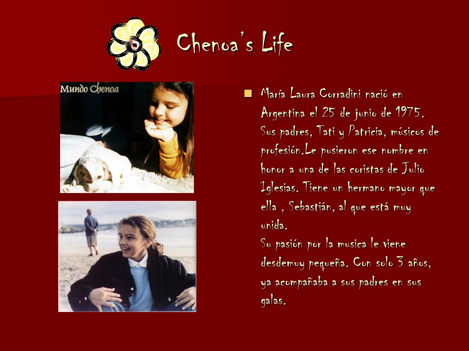 Chenoa's Life