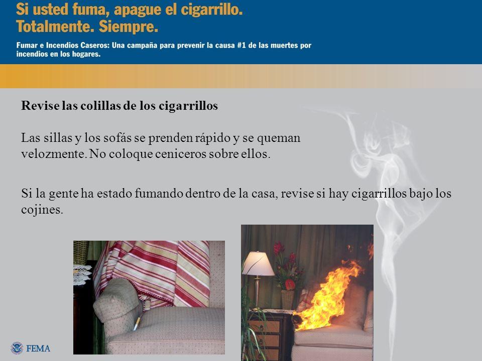 Revise las colillas de los cigarrillos