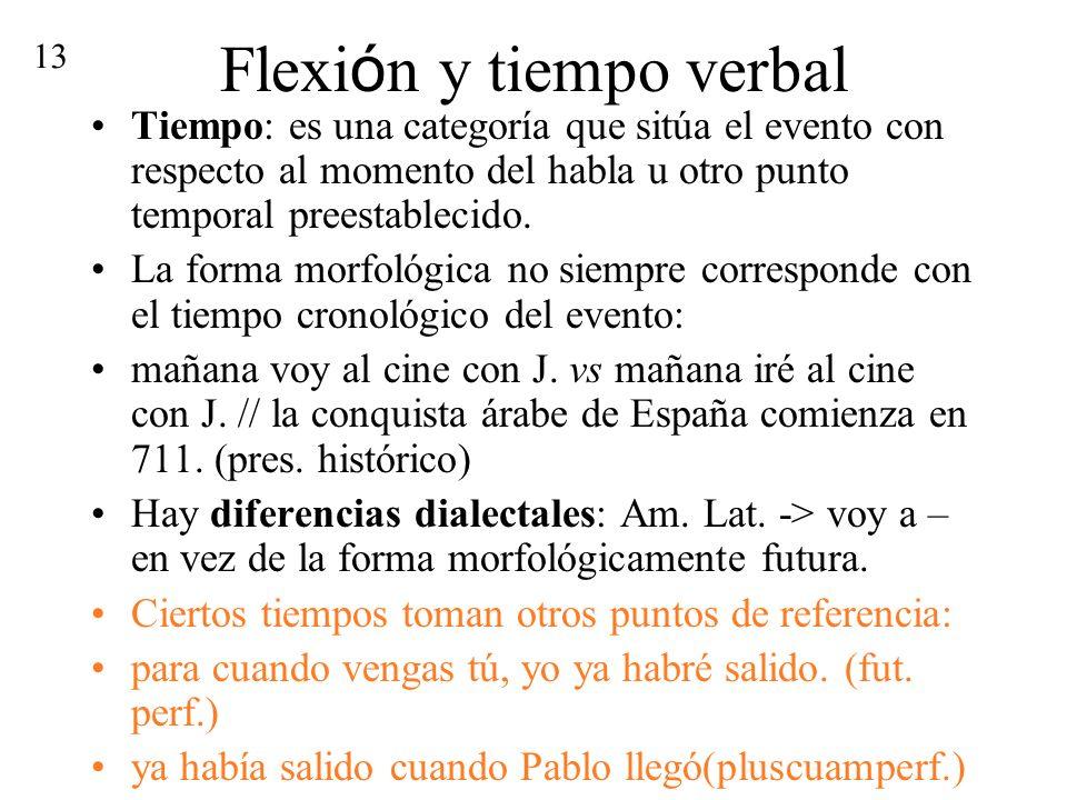 Flexión y tiempo verbal