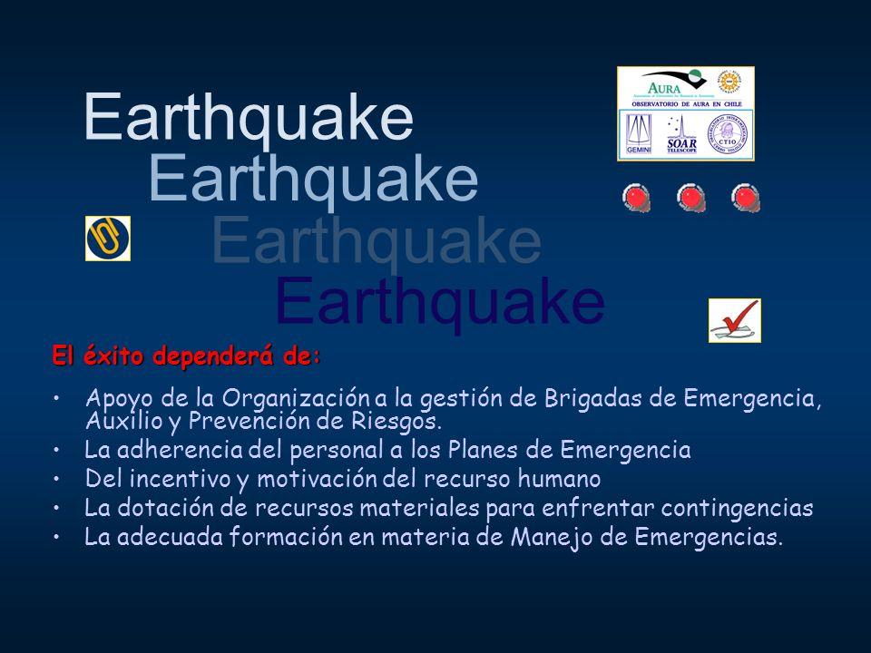 Earthquake Earthquake Earthquake Earthquake El éxito dependerá de: