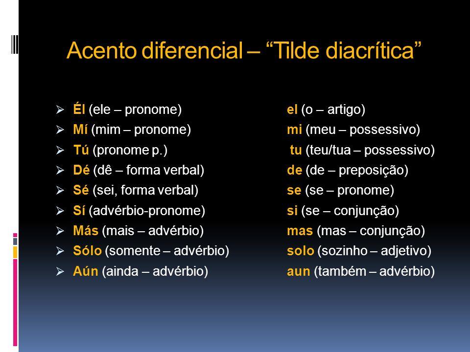 Acento diferencial – Tilde diacrítica