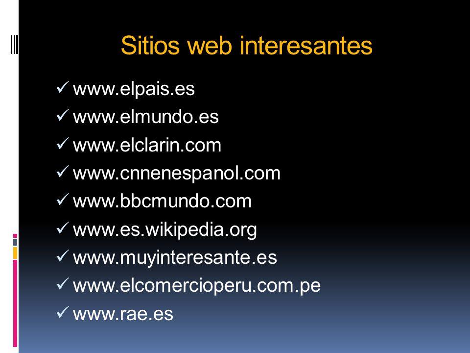Sitios web interesantes