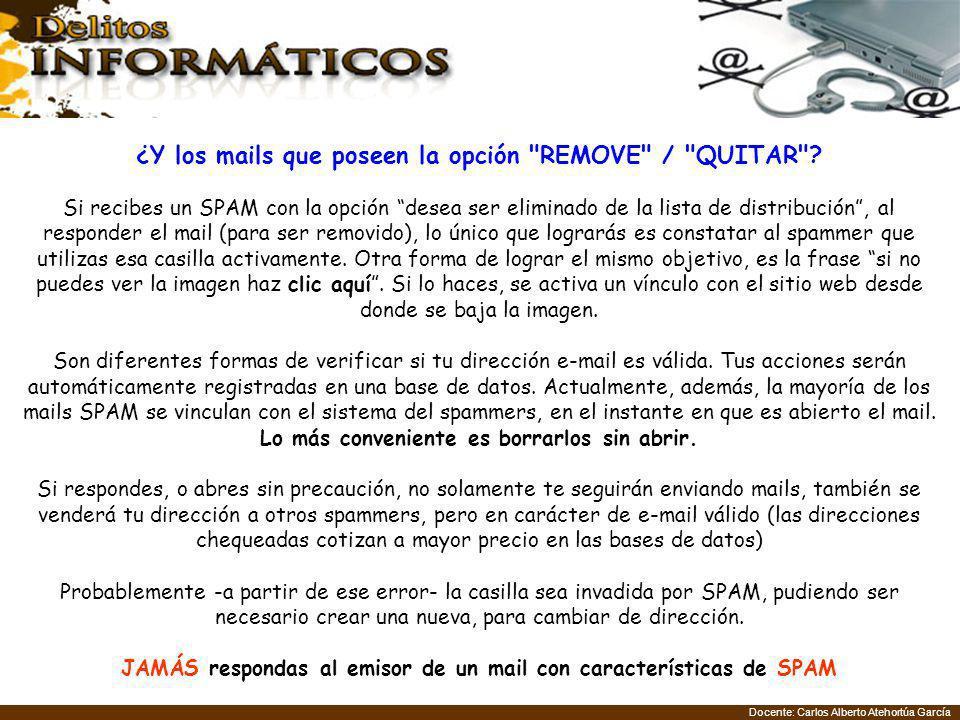 ¿Y los mails que poseen la opción REMOVE / QUITAR