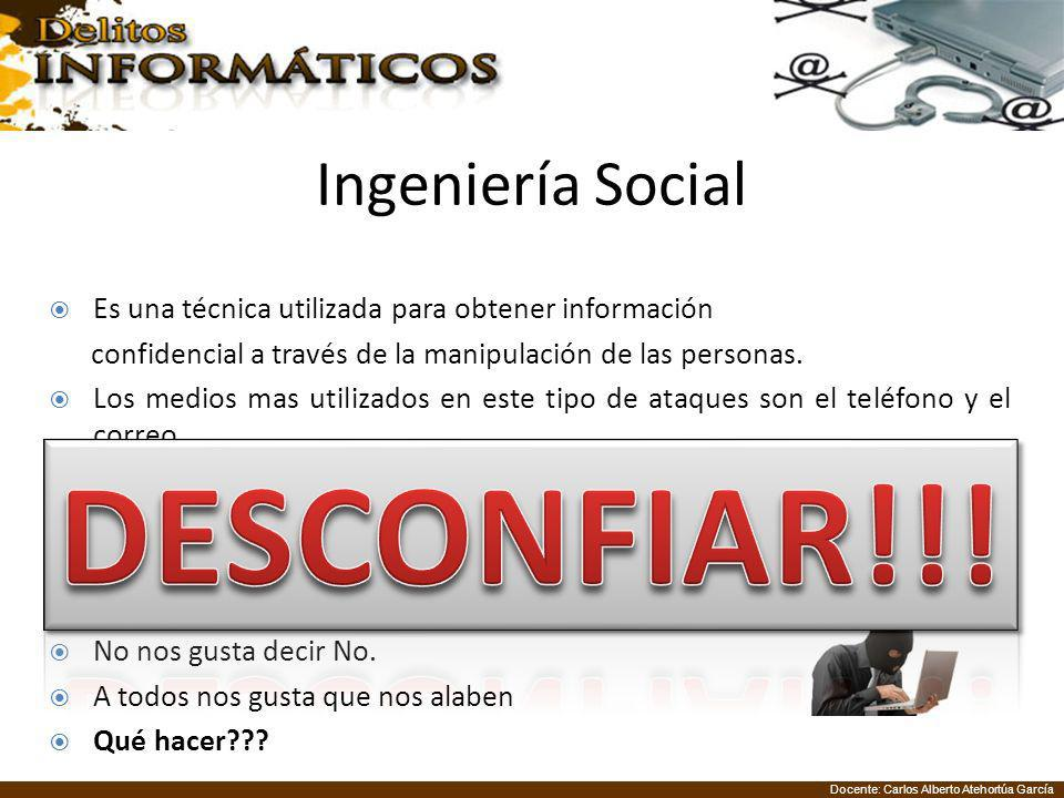 DESCONFIAR!!! Ingeniería Social