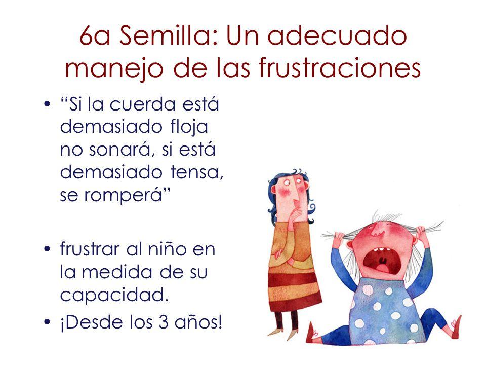 6a Semilla: Un adecuado manejo de las frustraciones