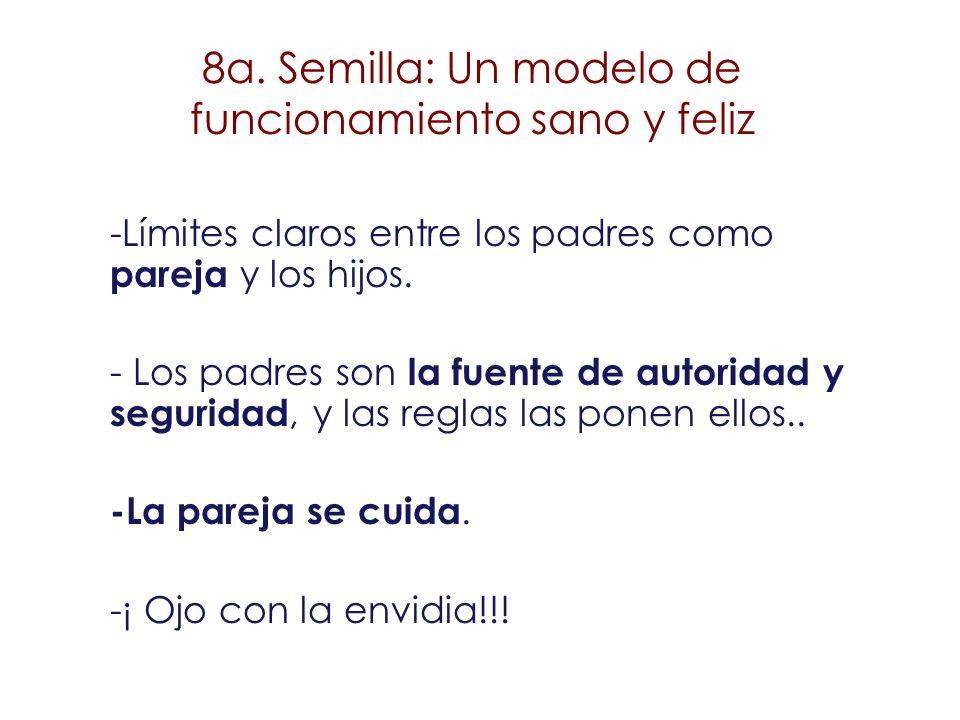 8a. Semilla: Un modelo de funcionamiento sano y feliz