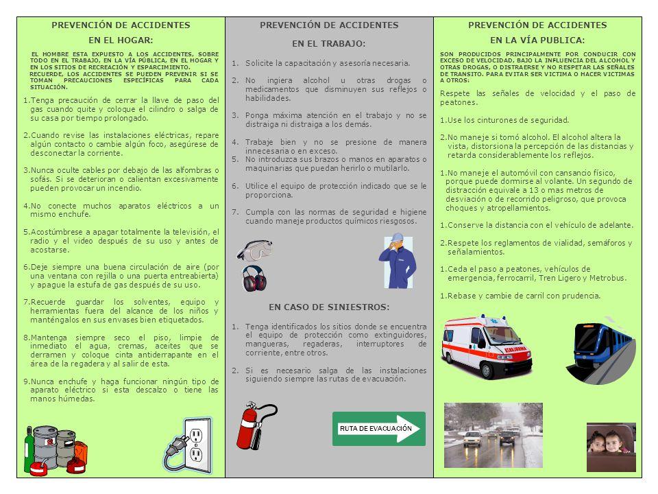 PREVENCIÓN DE ACCIDENTES EN EL HOGAR: PREVENCIÓN DE ACCIDENTES