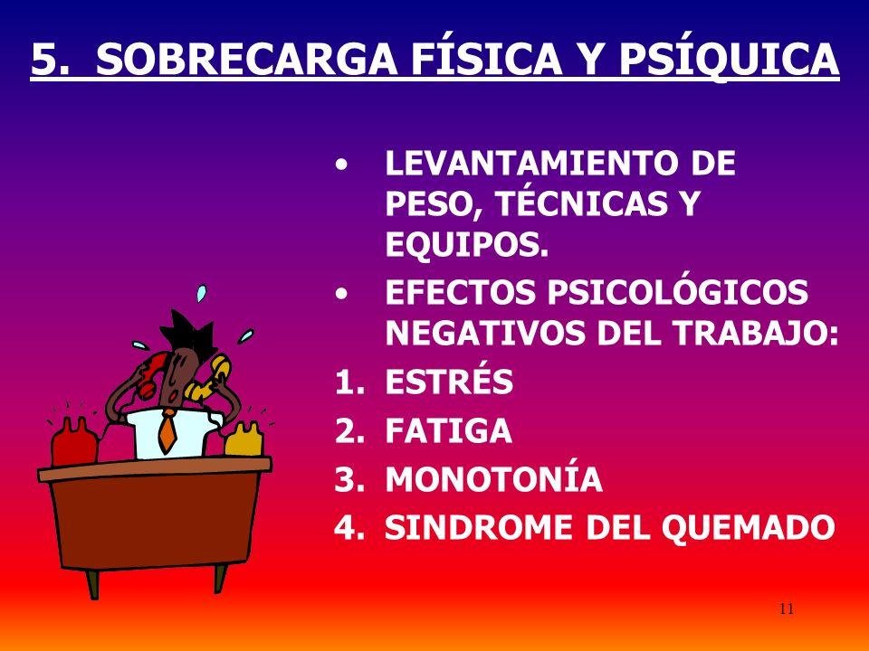 5. SOBRECARGA FÍSICA Y PSÍQUICA