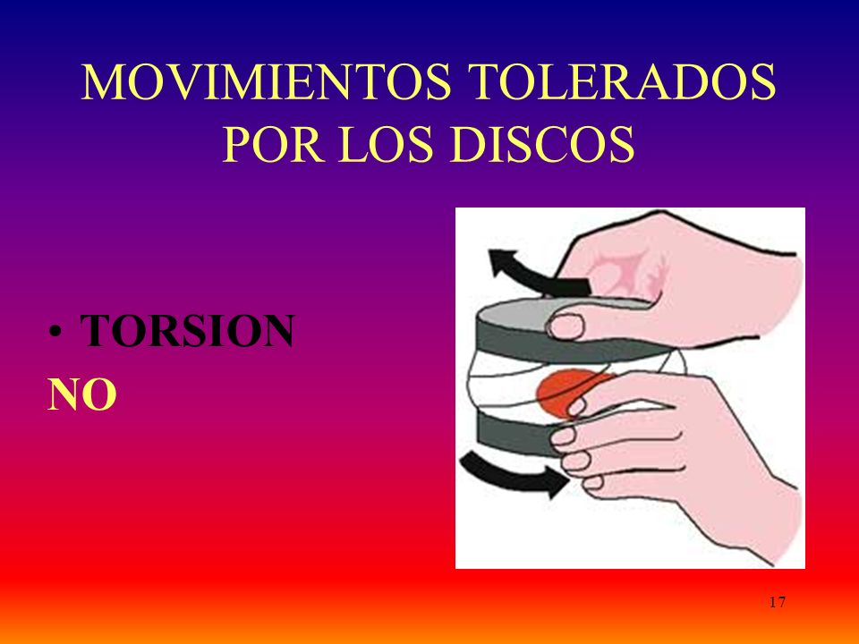 MOVIMIENTOS TOLERADOS POR LOS DISCOS