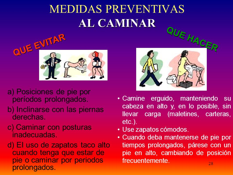 MEDIDAS PREVENTIVAS AL CAMINAR