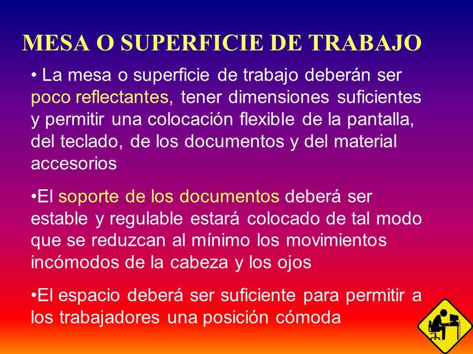 MESA O SUPERFICIE DE TRABAJO