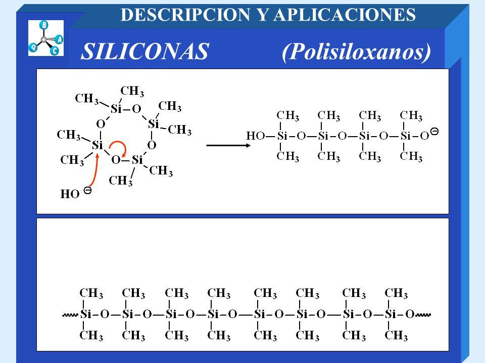 DESCRIPCION Y APLICACIONES SILICONAS (Polisiloxanos)