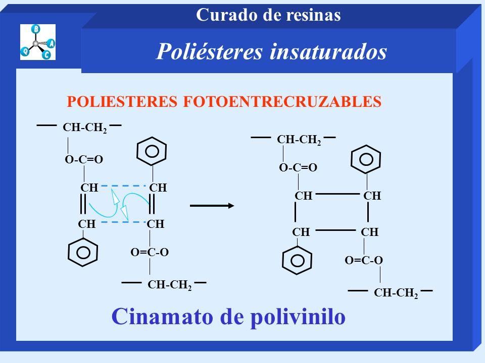Poliésteres insaturados Cinamato de polivinilo
