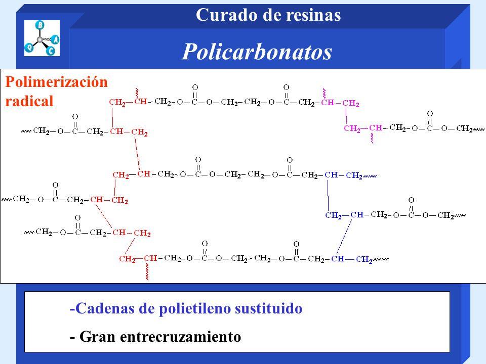 Policarbonatos Curado de resinas Polimerización radical