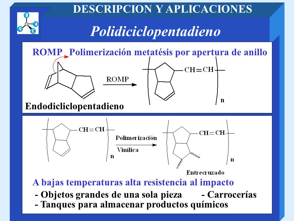 DESCRIPCION Y APLICACIONES Polidiciclopentadieno