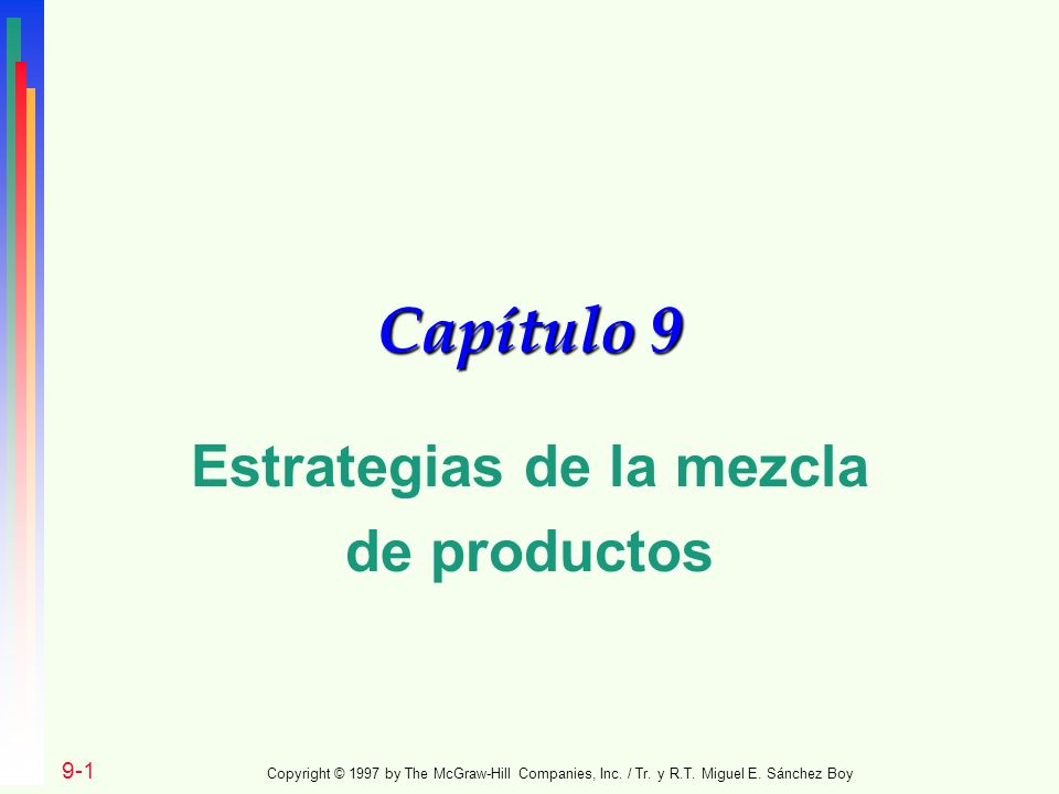 Estrategias de la mezcla de productos