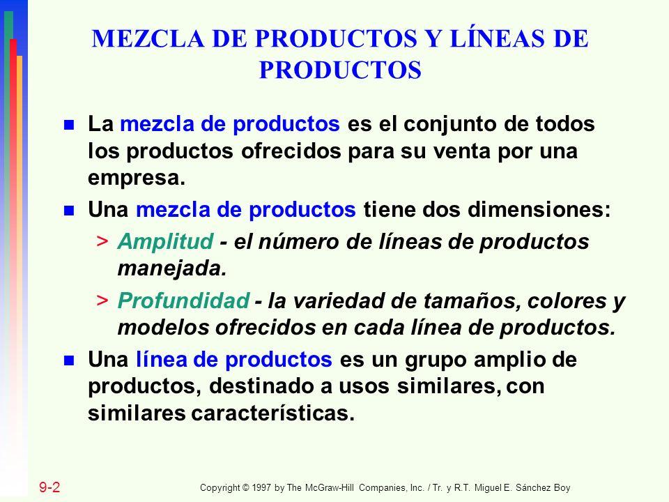 MEZCLA DE PRODUCTOS Y LÍNEAS DE PRODUCTOS
