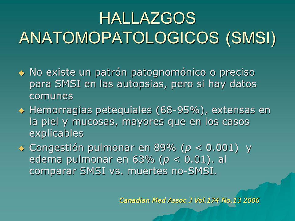 HALLAZGOS ANATOMOPATOLOGICOS (SMSI)