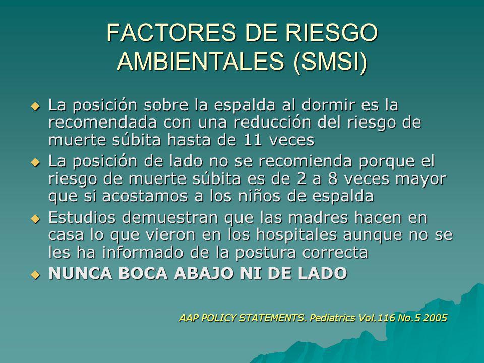 FACTORES DE RIESGO AMBIENTALES (SMSI)