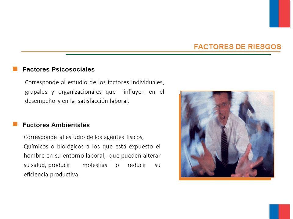 FACTORES DE RIESGOS Factores Psicosociales