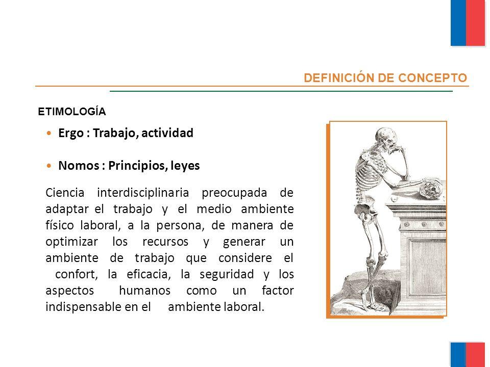 Ergo : Trabajo, actividad Nomos : Principios, leyes