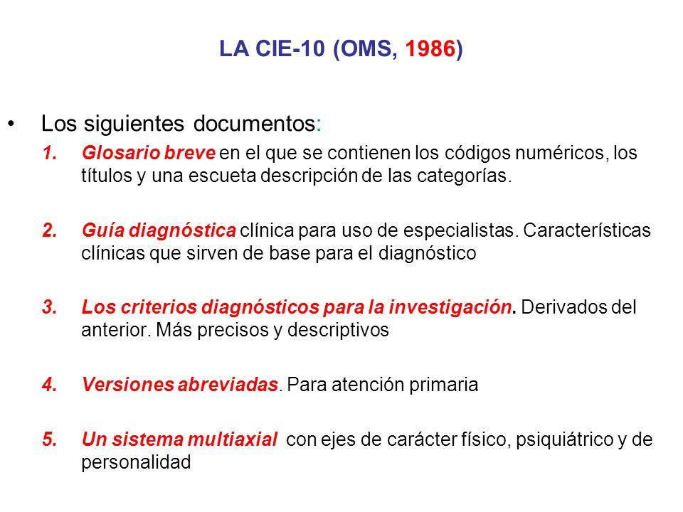 Los siguientes documentos: