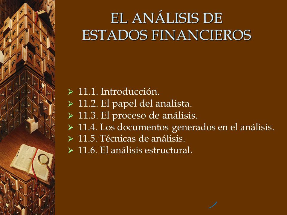 EL ANÁLISIS DE ESTADOS FINANCIEROS