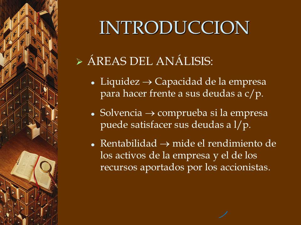 INTRODUCCION ÁREAS DEL ANÁLISIS: