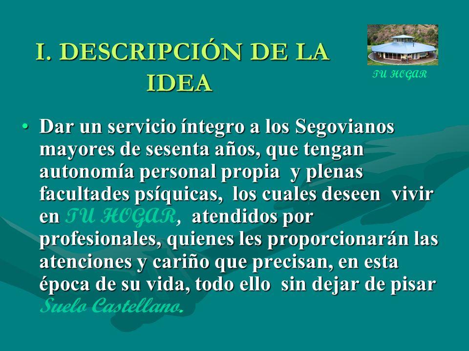 I. DESCRIPCIÓN DE LA IDEA