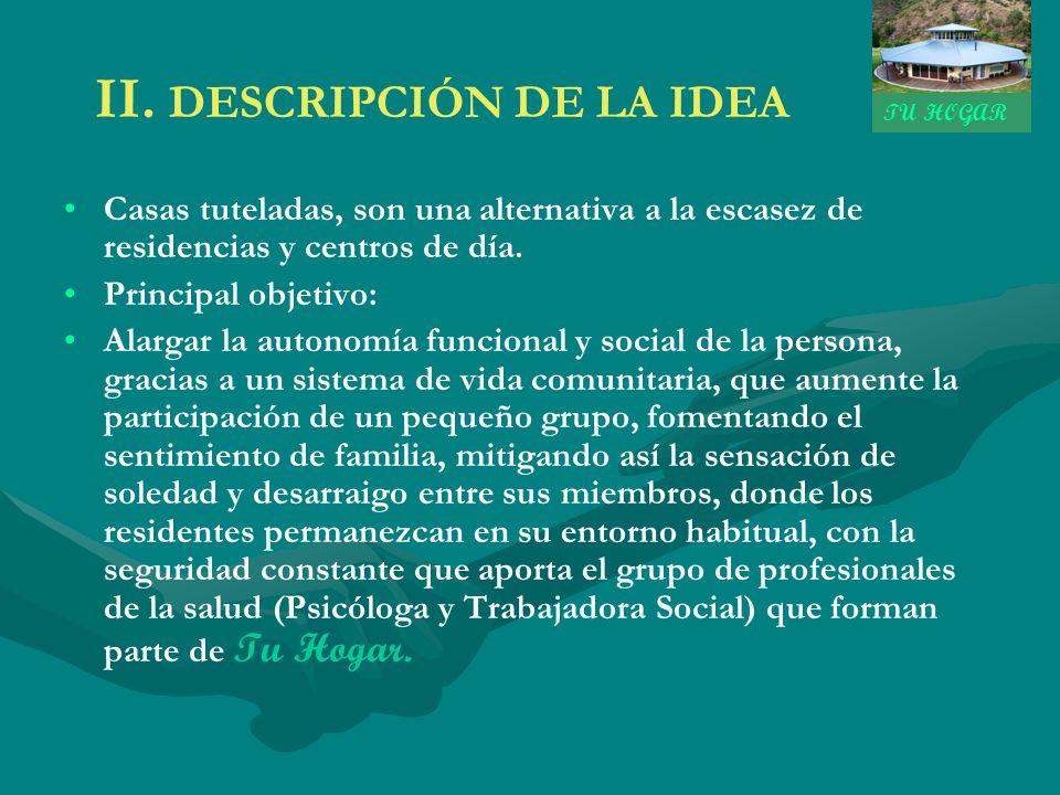 II. DESCRIPCIÓN DE LA IDEA