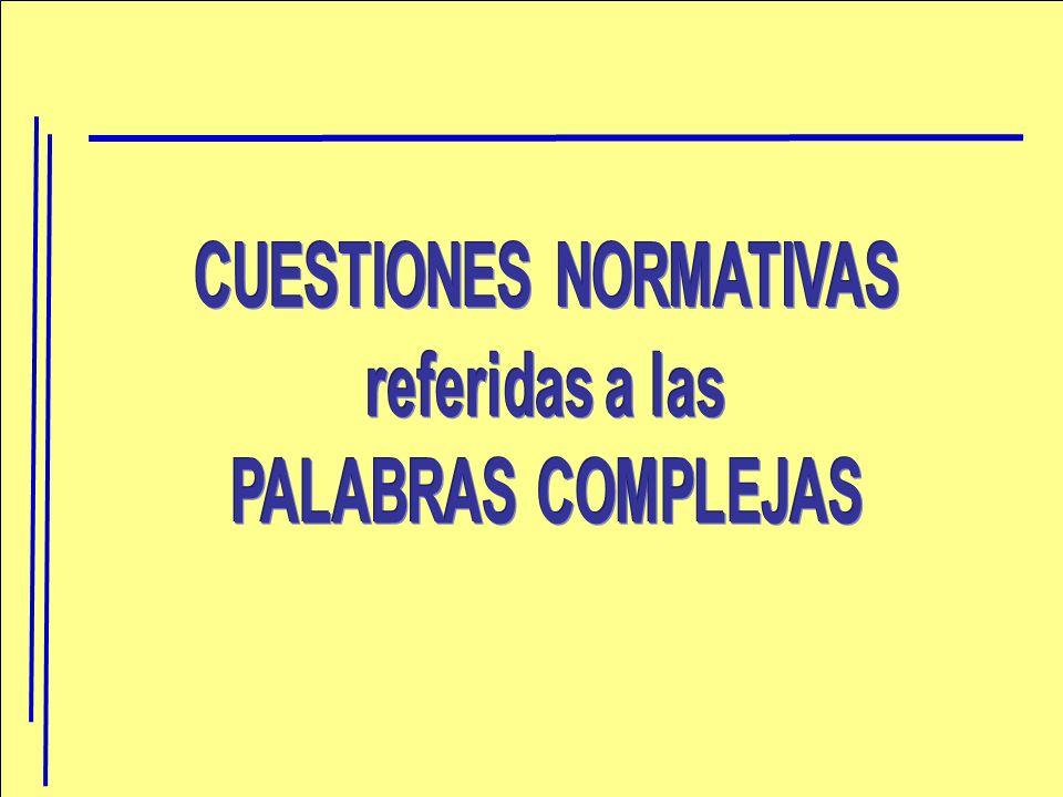 CUESTIONES NORMATIVAS