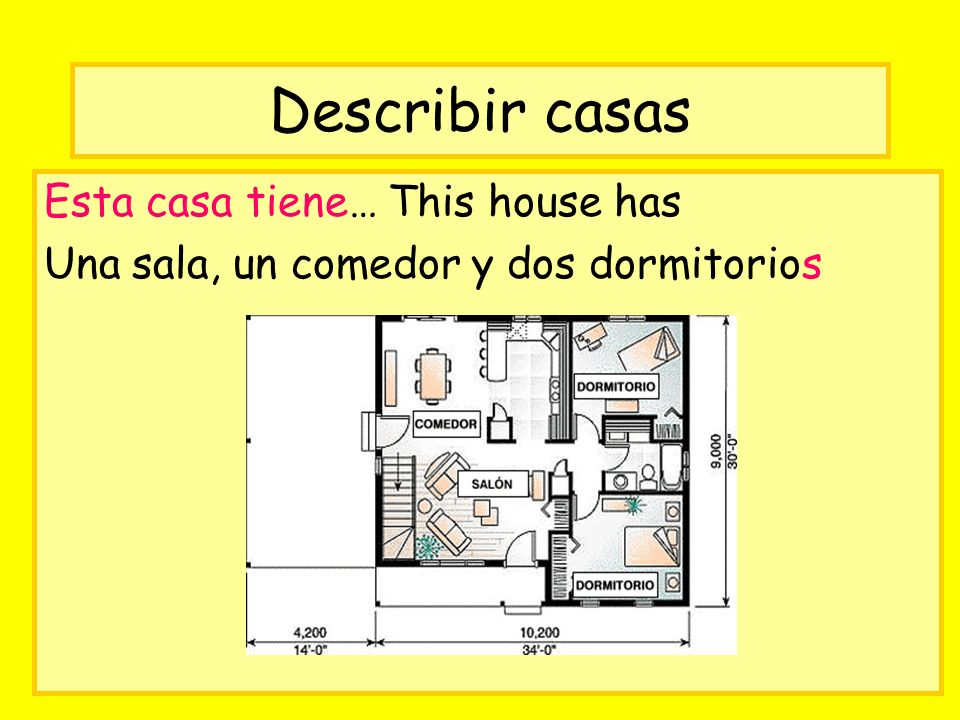 Describir casas Esta casa tiene… This house has