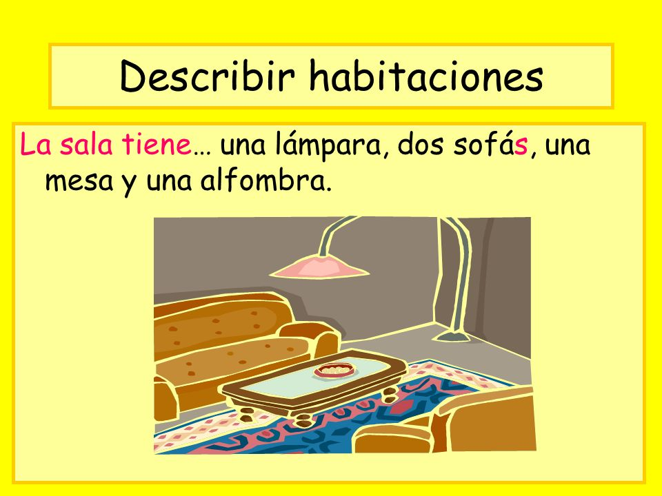 Describir habitaciones