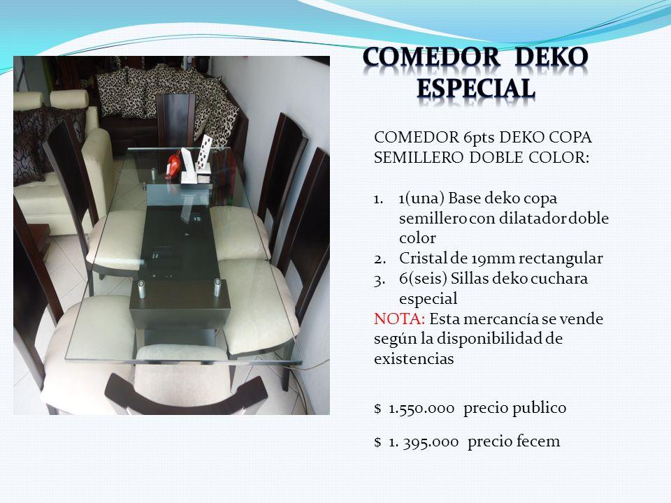 Comedor deko especial COMEDOR 6pts DEKO COPA SEMILLERO DOBLE COLOR: