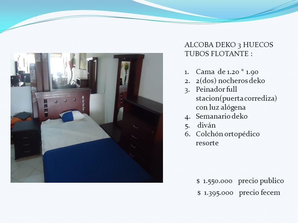 ALCOBA DEKO 3 HUECOS TUBOS FLOTANTE :