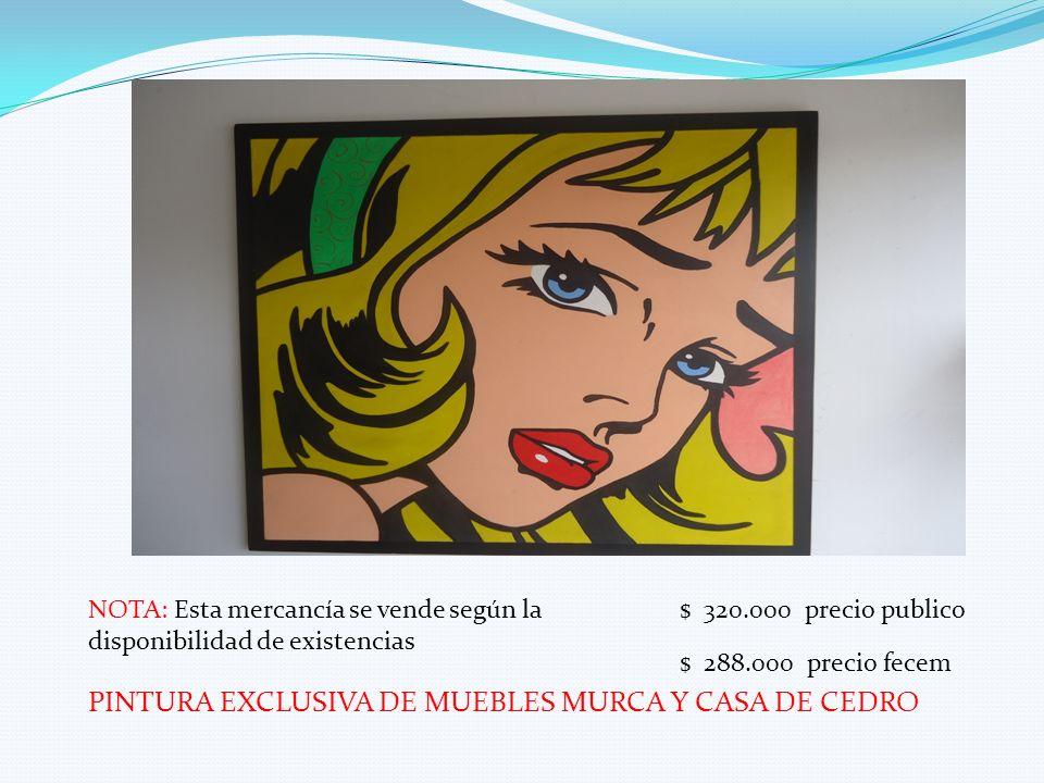 PINTURA EXCLUSIVA DE MUEBLES MURCA Y CASA DE CEDRO