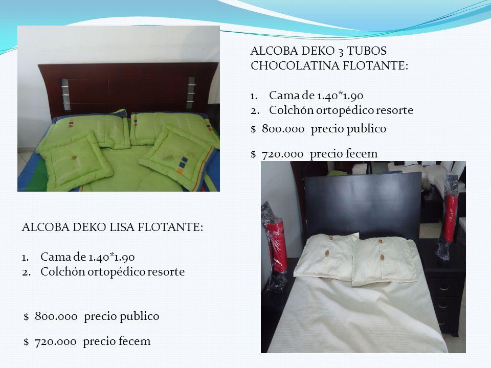 ALCOBA DEKO 3 TUBOS CHOCOLATINA FLOTANTE: