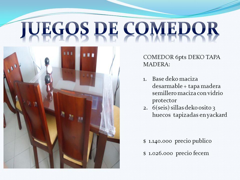 Juegos de comedor COMEDOR 6pts DEKO TAPA MADERA: