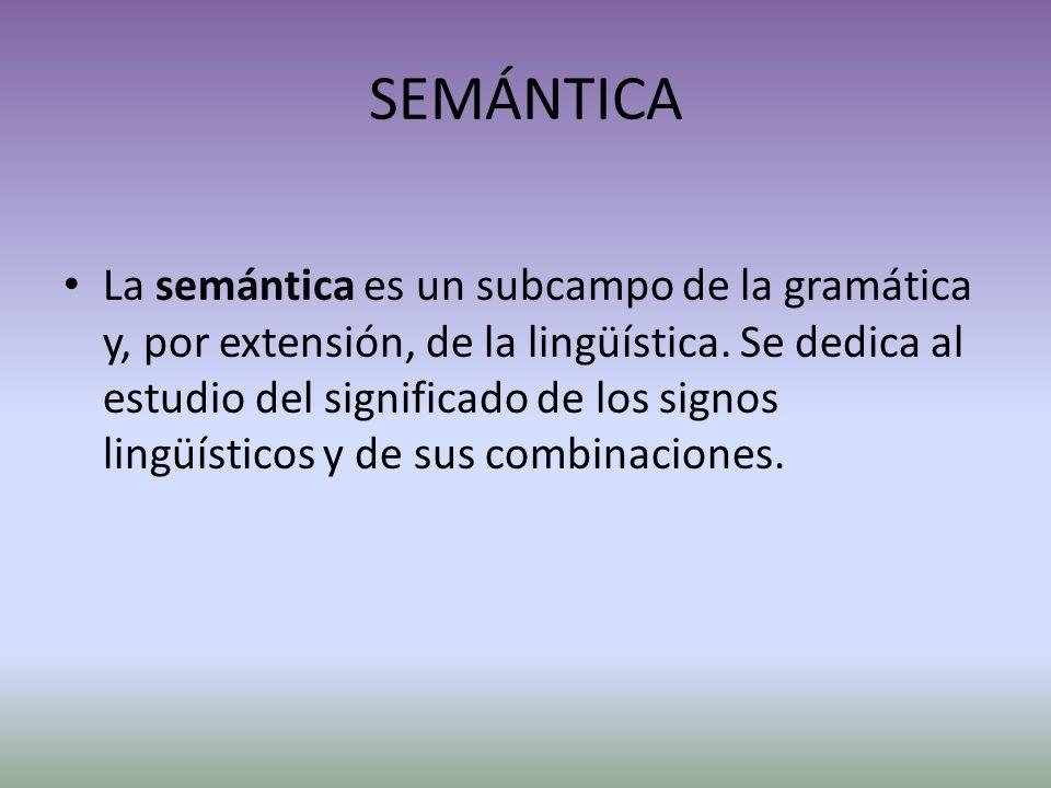 SEMÁNTICA