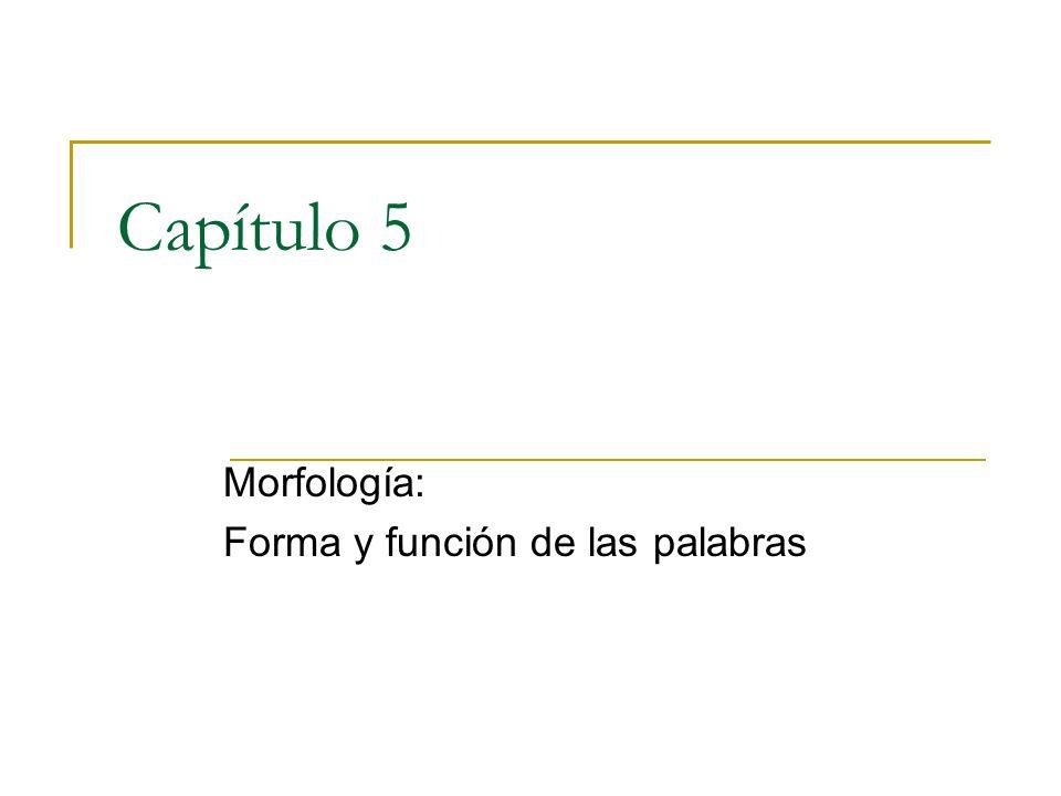 Morfología: Forma y función de las palabras