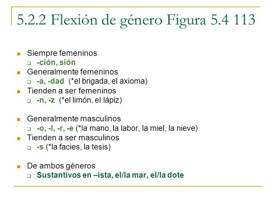 5.2.2 Flexión de género Figura 5.4 113