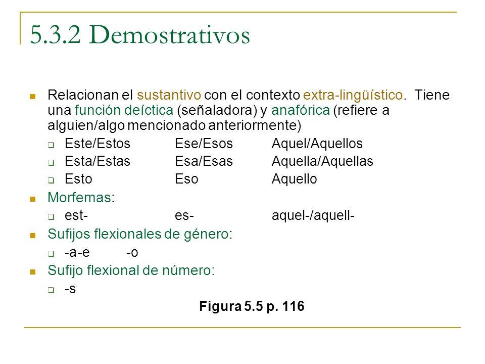 5.3.2 Demostrativos