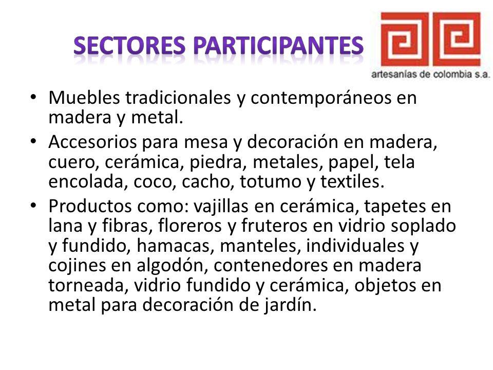 Sectores participantes