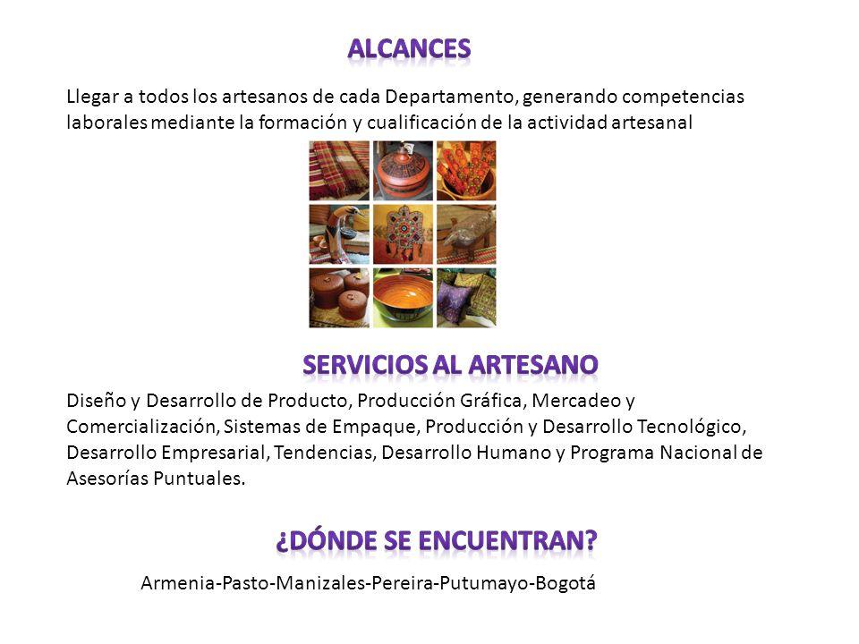 Alcances Servicios al artesano ¿Dónde se encuentran