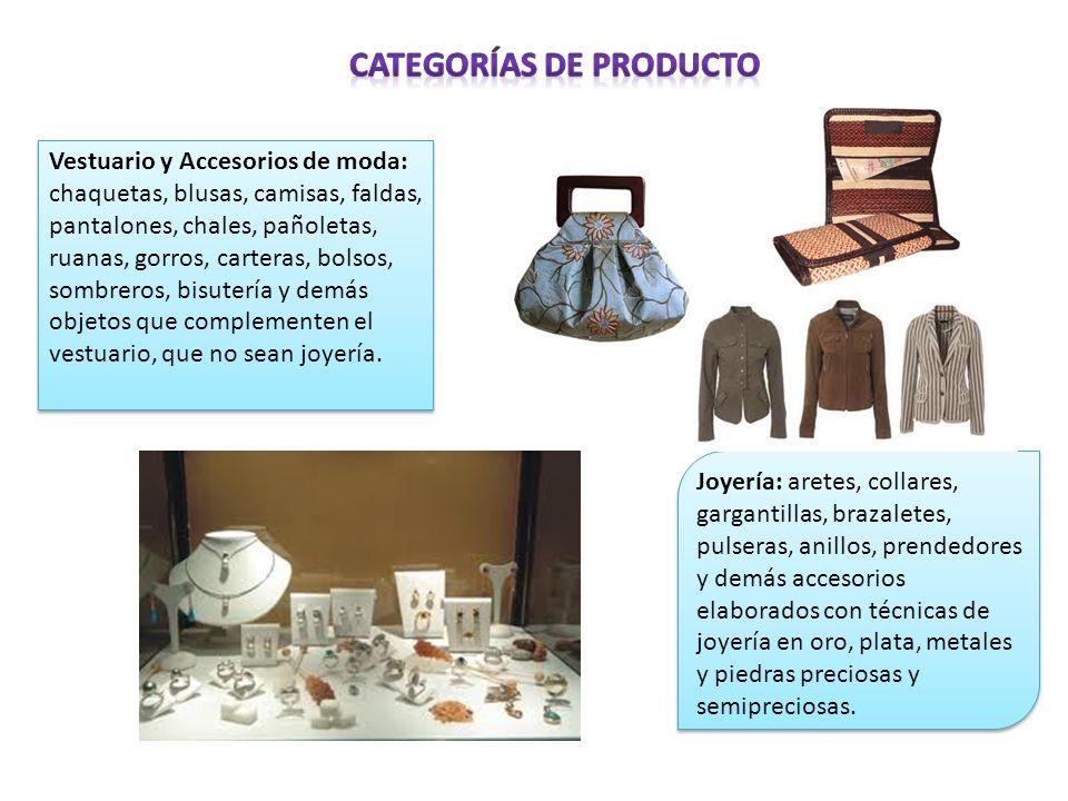 Categorías de Producto