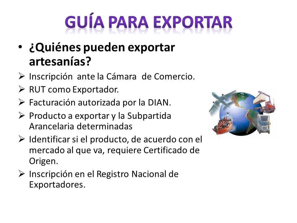 Guía para exportar ¿Quiénes pueden exportar artesanías