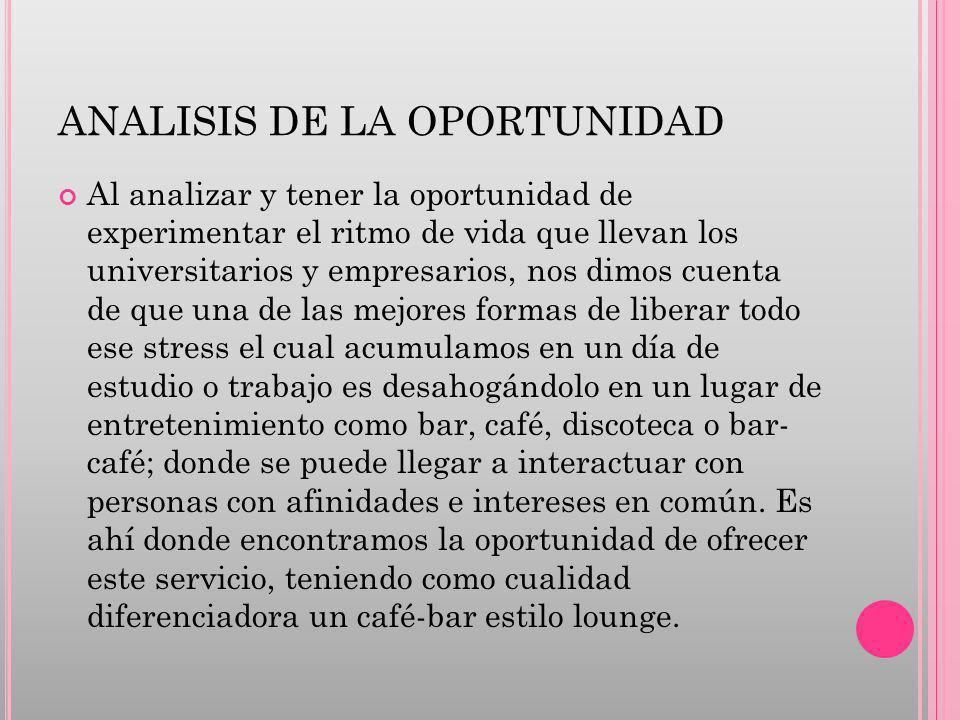 ANALISIS DE LA OPORTUNIDAD