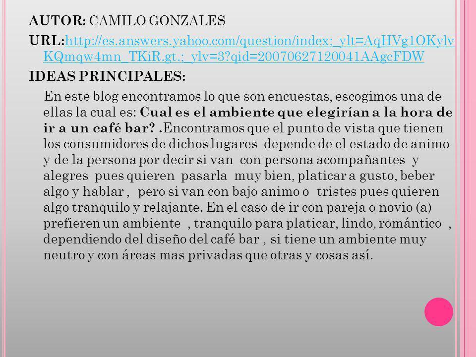 AUTOR: CAMILO GONZALES