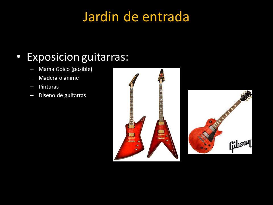 Jardin de entrada Exposicion guitarras: Mama Goico (posible)